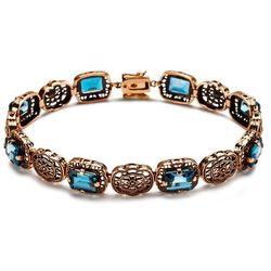 Kolekcja Wiktoriańska - bransoletka z London Blue Topazami