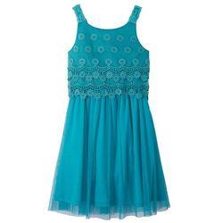 Sukienka dziewczęca na uroczyste okazje bonprix ciemnoturkusowy