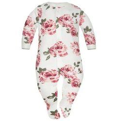 Pajac niemowlęcy Białe Róże - Dolce Sonno