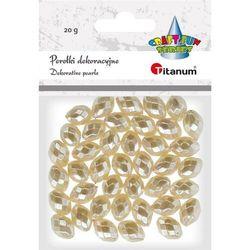 Perełki TITANUM podłużne fasetowane biały perłowy (220075) 390960