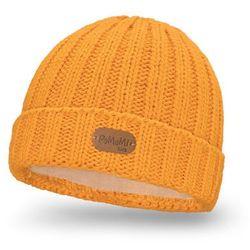 Zimowa czapka dziecięca z polarem PaMaMi- Miodowy