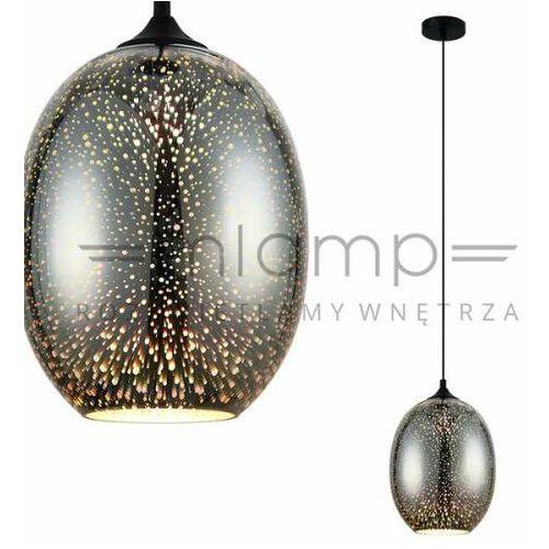 Lampy sufitowe, Lampa wisząca Andromeda 3D 1 x 60 W E27 chrom
