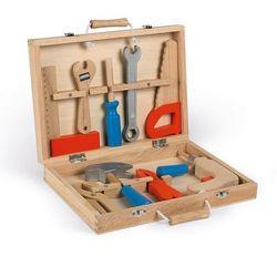 Drewniana Walizeczka z narzędziami Bricolo Janod Niebieska J06481