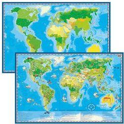 Mapa Świata Młodego Odkrywcy Dwustronna Podkładka Na Biurko + Pisak