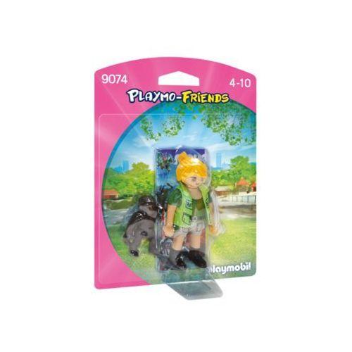Klocki dla dzieci, Playmobil PLAYMO-FRIENDS Opiekunka zwierząt z gorylątkiem 9074