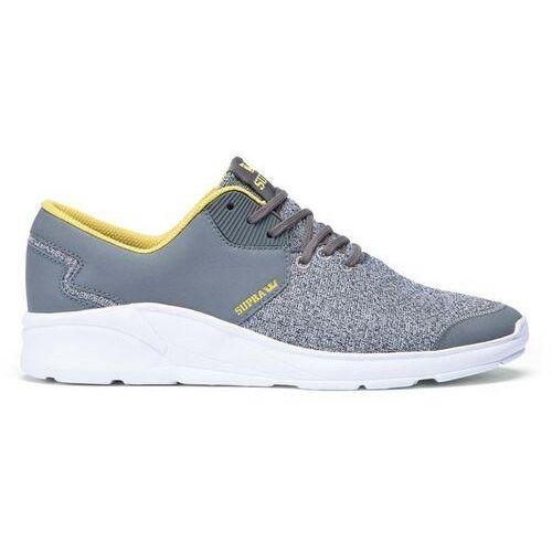 Obuwie sportowe dla mężczyzn, buty SUPRA - Noiz Grey Heather/Charcoal-Wht (GCH) rozmiar: 45.5