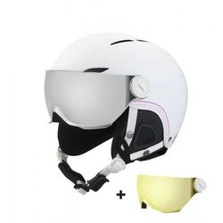 KASK BOLLE JULIET SOFT WHITE NORDIC WITH 1 SILVER VISOR + 1 LEMON VISOR