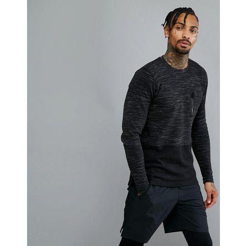 Bluzy męskie, Dissident Crew Neck Gym Sweatshirt - Black