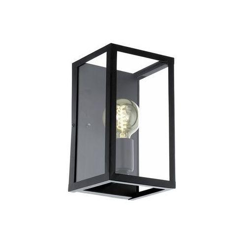 Lampy ścienne, Kinkiet Eglo Charterhouse 49394 lampa ścienna 1x60W E27 czarna