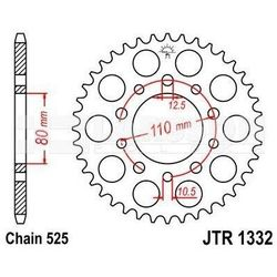 Zębatka tylna stalowa JT 1332-40, 40Z, rozmiar 525 2300648 Honda XRV 750, VT 600