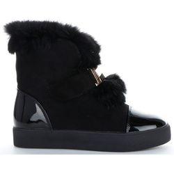 Modne i Eleganckie Sneakersy Damskie Śniegowce firmy Sergio Todzi Czarne (kolory)
