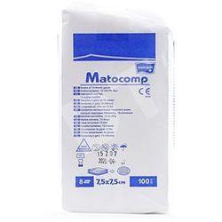 Kompresy z gazy Matocomp 13n 8w niejałowe 7,5x7,5cm 100 szt.