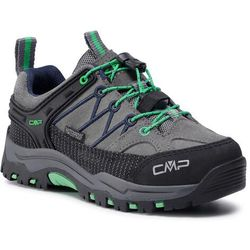 Trekkingi CMP - Kids Rigel Low Trekking Shoes Wp 3Q13244 Graffite/Verde Fluo 29UF