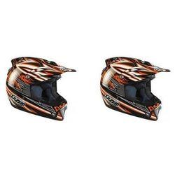 Kask motocyklowy LAZER MX6 Tribal X czarny/pom.