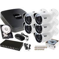Zestawy monitoringowe, 5x BCS-TIP3401IR-E-IV BCS-NVR08015ME-II V Zestaw Monitoringu 1TB akcesoria