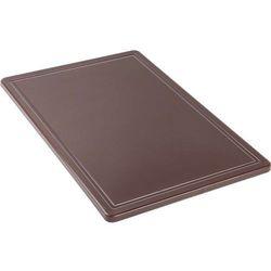 Deska do krojenia HACCP 600x400 mm, brązowa | STALGAST, 341636
