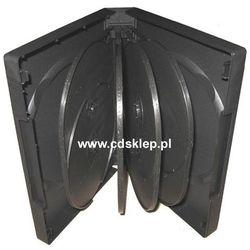 Etui plastikowe na 10DVD 27mm czarne