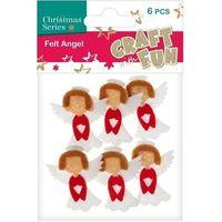 Pozostałe artykuły papiernicze, Ozdoba dekoracyjna filc anioł 6el