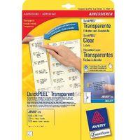 Etykiety biurowe, Etykiety adreskow AVERY 63,5 X 38,1 mm (do kopert C6) do drukarek atramentowych - X06565