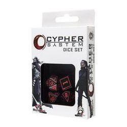 Komplet Kości Cypher System - Czarno-czerwony