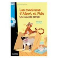 Książki dla dzieci, Les Aventures d'Albert et Folio: Une Nouvelle Famille + CD (opr. miękka)