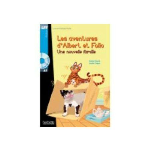 Książki dla dzieci, Les Aventures d'Albert et Folio: Une Nouvelle Famille + CD (opr. twarda)