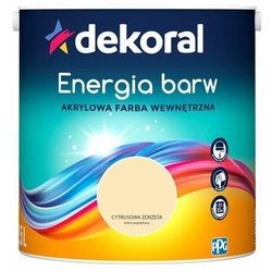 Farba wewnętrzna ENERGIA BARW 2.5 l Cytrusowa Żorżeta DEKORAL