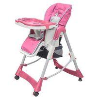 Krzesełka do karmienia, vidaXL Krzesełko dla dzieci do karmienia, z regulowaną wysokością, róż Darmowa wysyłka i zwroty
