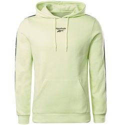 Bluza męska Reebok Training Essentials Tape Hoodie zielona GU9961