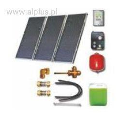 Zestaw solarny dla 5-7 osób 3xkolektory słoneczne 2,65m2 POLSKIE absorber meandryczny Al-Cu