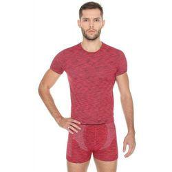 Koszulka męska Brubeck Fusion SS11550 czerwony