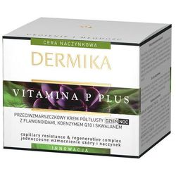 Dermika Vitamina P Plus krem przeciw zmarszczkom do skóry wrażliwej ze skłonnością do przebarwień (With Flavonoids, Coenzyme Q10 and Squalane) 50 ml