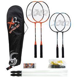 Zestaw do gry w badmintona, paletki + siatka - dla 4 osób