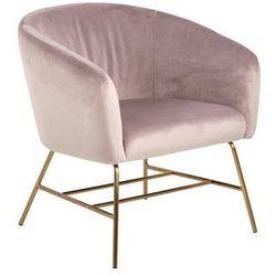 Fotel RAMSEY różowo-złoty