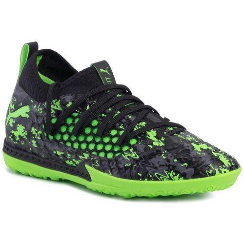 Piłka nożna, Buty PUMA - Future 19.3 Netfit Tt 105542 03 Black/Gray/Green Gecko