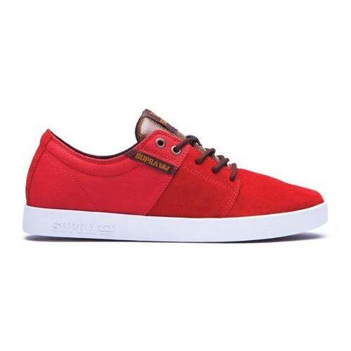 Męskie obuwie sportowe, buty SUPRA - Stacks Ii Red/Lizard-White (RLZ)