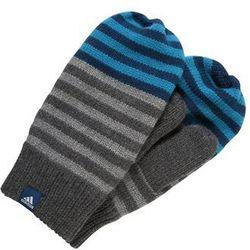 adidas Performance STRIPY Rękawiczki z jednym palcem dark grey heather/blue night
