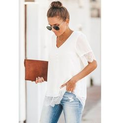 Damski t-shirt ALMARA WHITE