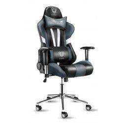 Fotel DIABLO X-Eye Czarno-biało-szary + Zamów z DOSTAWĄ JUTRO! + DARMOWY TRANSPORT!