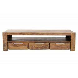 INVICTA stolik RTV MAKASSAR 170 cm - Sheesham, drewno naturalne, aluminium