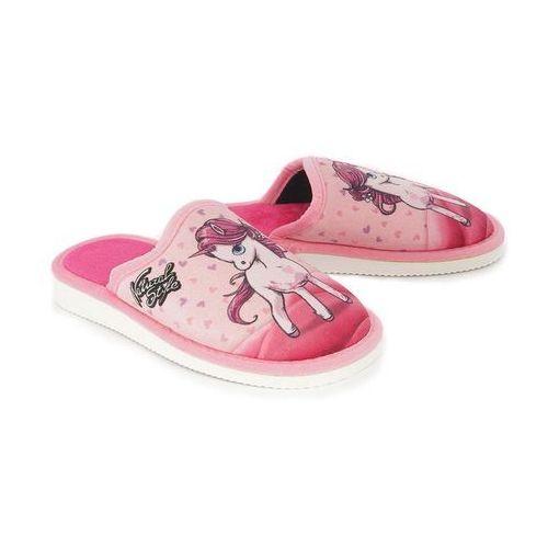 Obuwie domowe dziecięce, METEOR 157 JEDNOROŻEC różowy, kapcie dziecięce, rozmiary 29-34 - Różowy