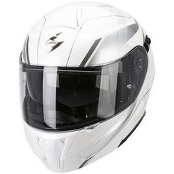 SCORPION KASK EXO-920 GEM PEARL WHITE-SILVER