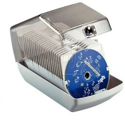 Pudełko na 40CD zamykane Esselte jasnoszare 90954