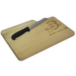 Deska do pieczywa z nożem + grawer