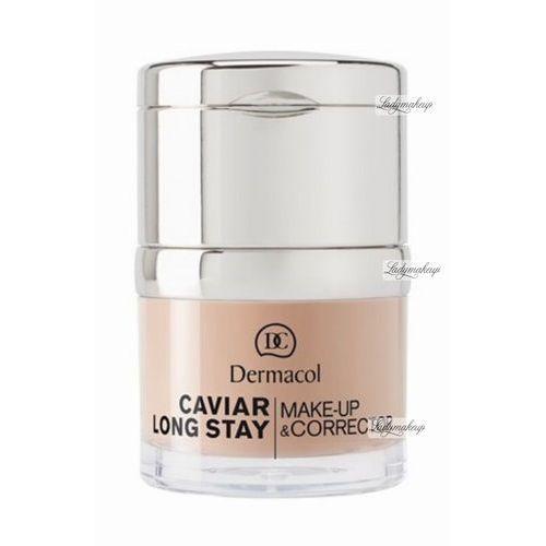 Podkłady i fluidy, Dermacol Caviar Long Stay Make-Up & Corrector podkład 30 ml dla kobiet 2 Fair