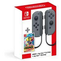 Gamepady, Kontroler NINTENDO Switch Joy-Con Szary + ARMS - BEZPŁATNY ODBIÓR: WROCŁAW!