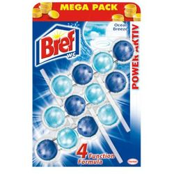 BREF 3x50g Power active Ocean Breeze zawieszka do muszli WC Mega Pack