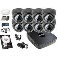 Zestawy monitoringowe, Zestaw do monitoringu: Rejestrator BCS-XVR0801E, 8x Kamera LV-AL40MVD, 1TB, akcesoria