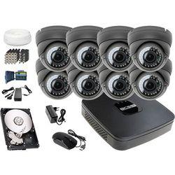 Zestaw do monitoringu: Rejestrator BCS-XVR0801E, 8x Kamera LV-AL40MVD, 1TB, akcesoria