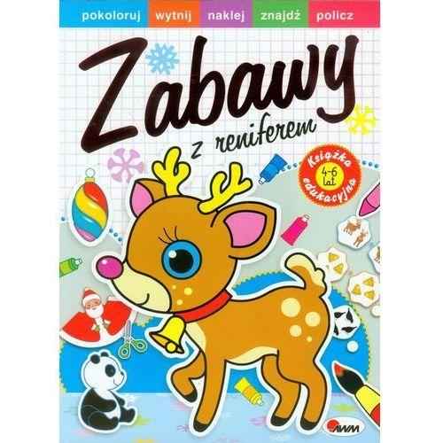 Książki dla dzieci, Zabawy z reniferem + zakładka do książki GRATIS (opr. broszurowa)